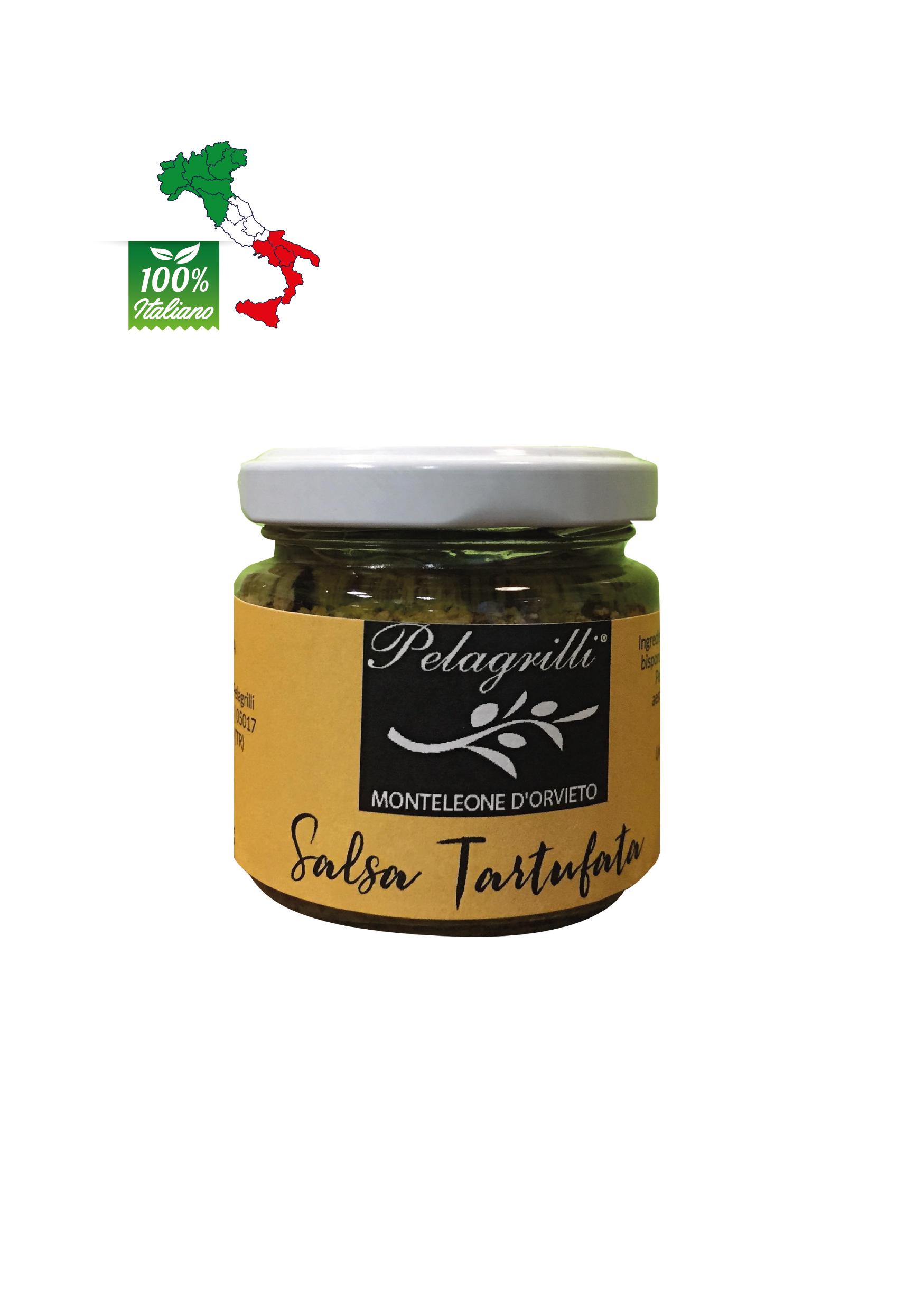 Salsa Tartufata con olio extra vergine di oliva Pelagrilli - vasetto da gr 80