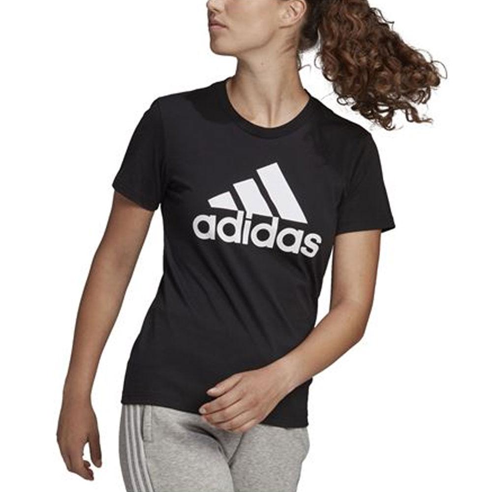 Adidas T-Shirt Logo Nera da Donna