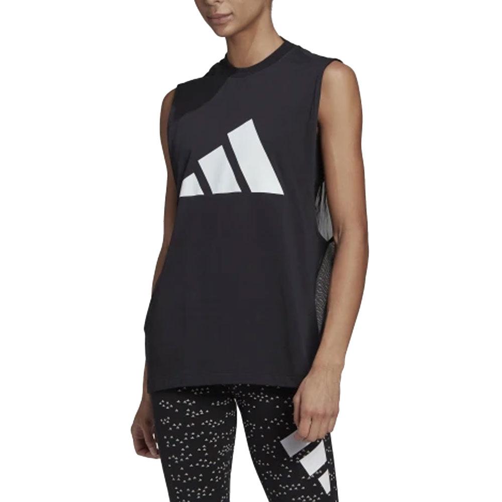 Adidas Canotta Sportswear Velata Nera da Donna