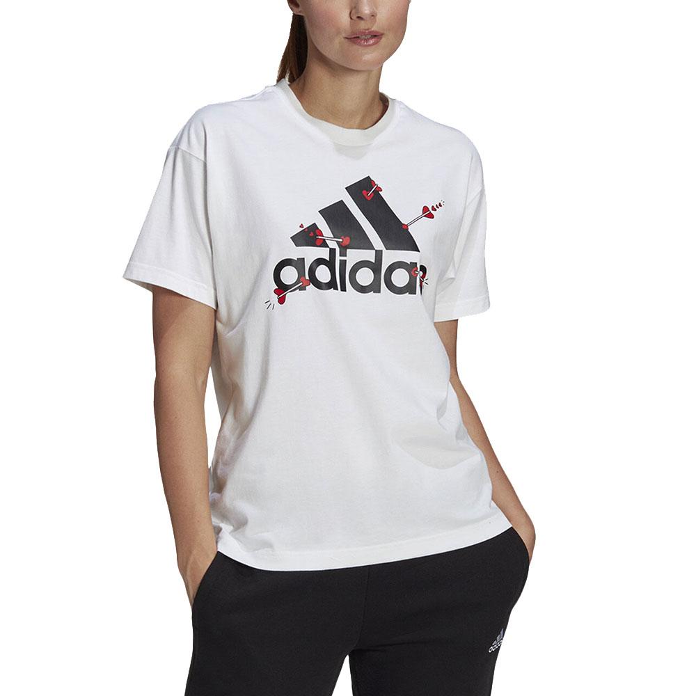 Adidas T-Shirt con stampa Bianca Unisex