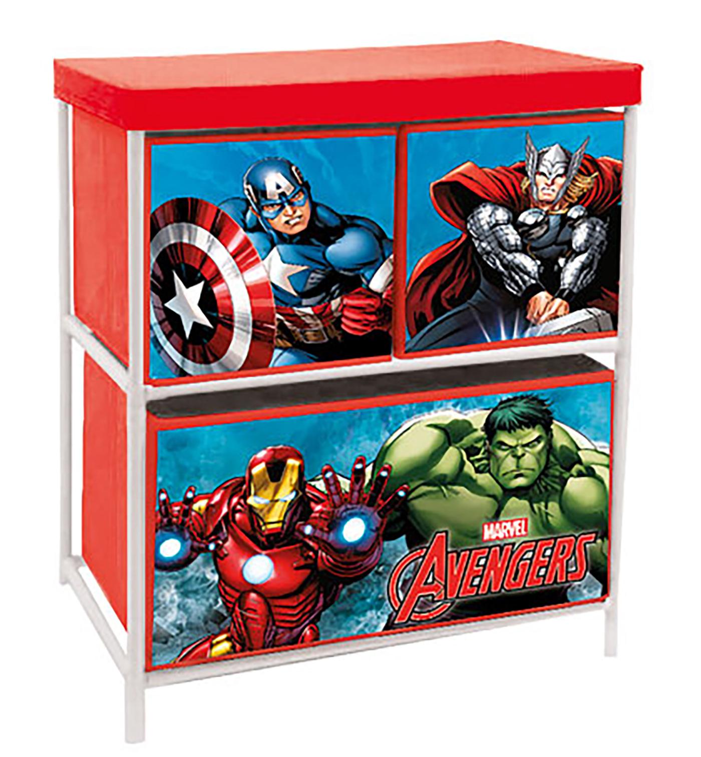 Scaffale Portagiochi in metallo Avengers