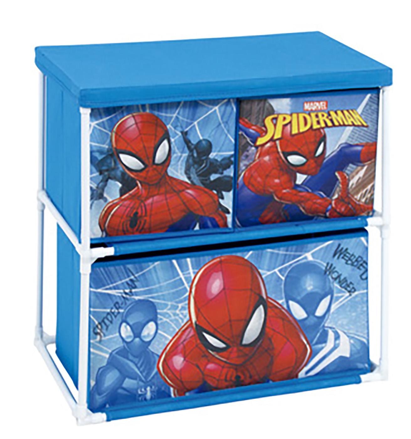 Scaffale Portagiochi in metallo Spiderman