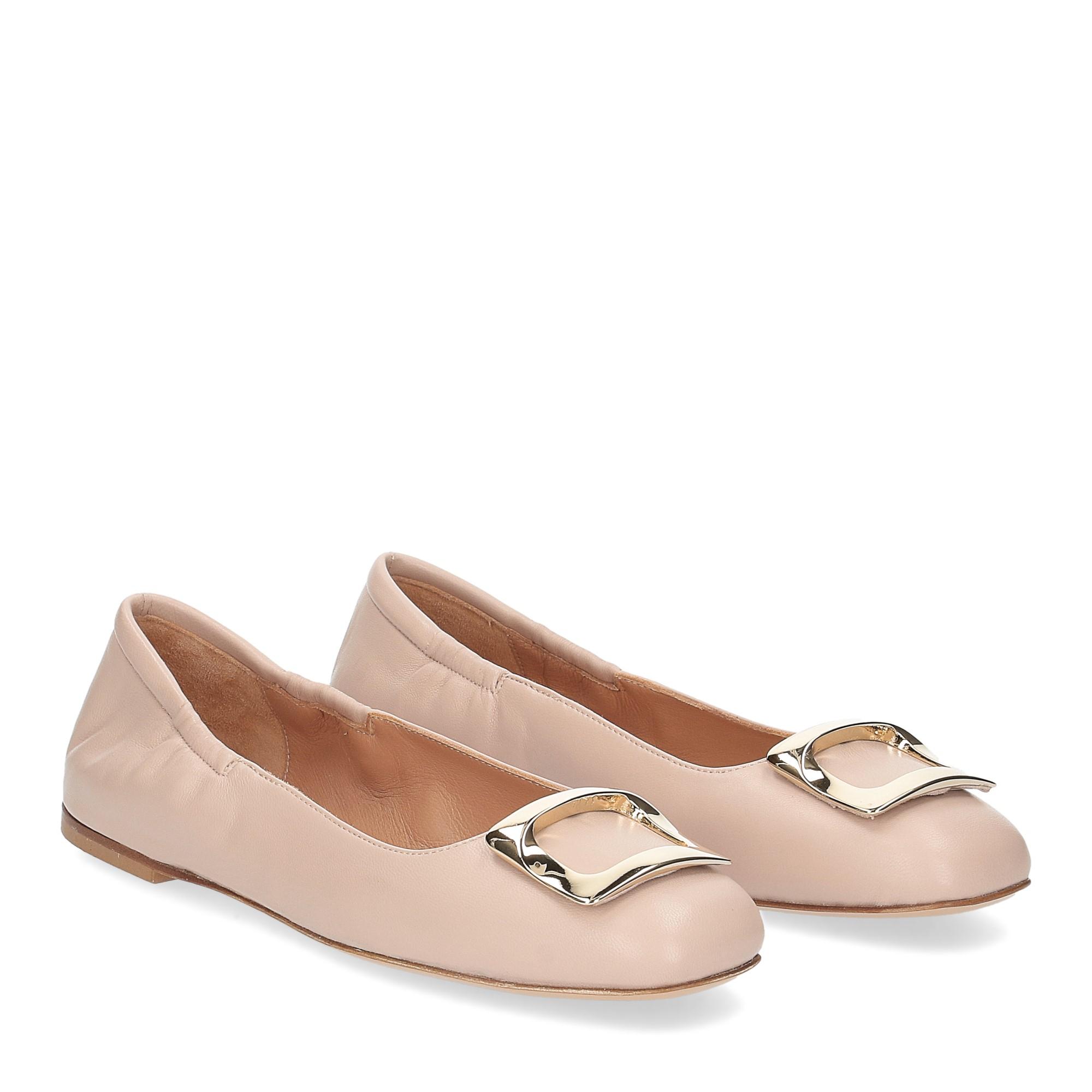 Anna de Bray ballerina SQ051 pelle rosa