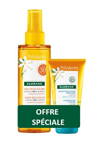 Klorane olio secco solare SPF30 200ML + Shampoo doccia doposole 75ml