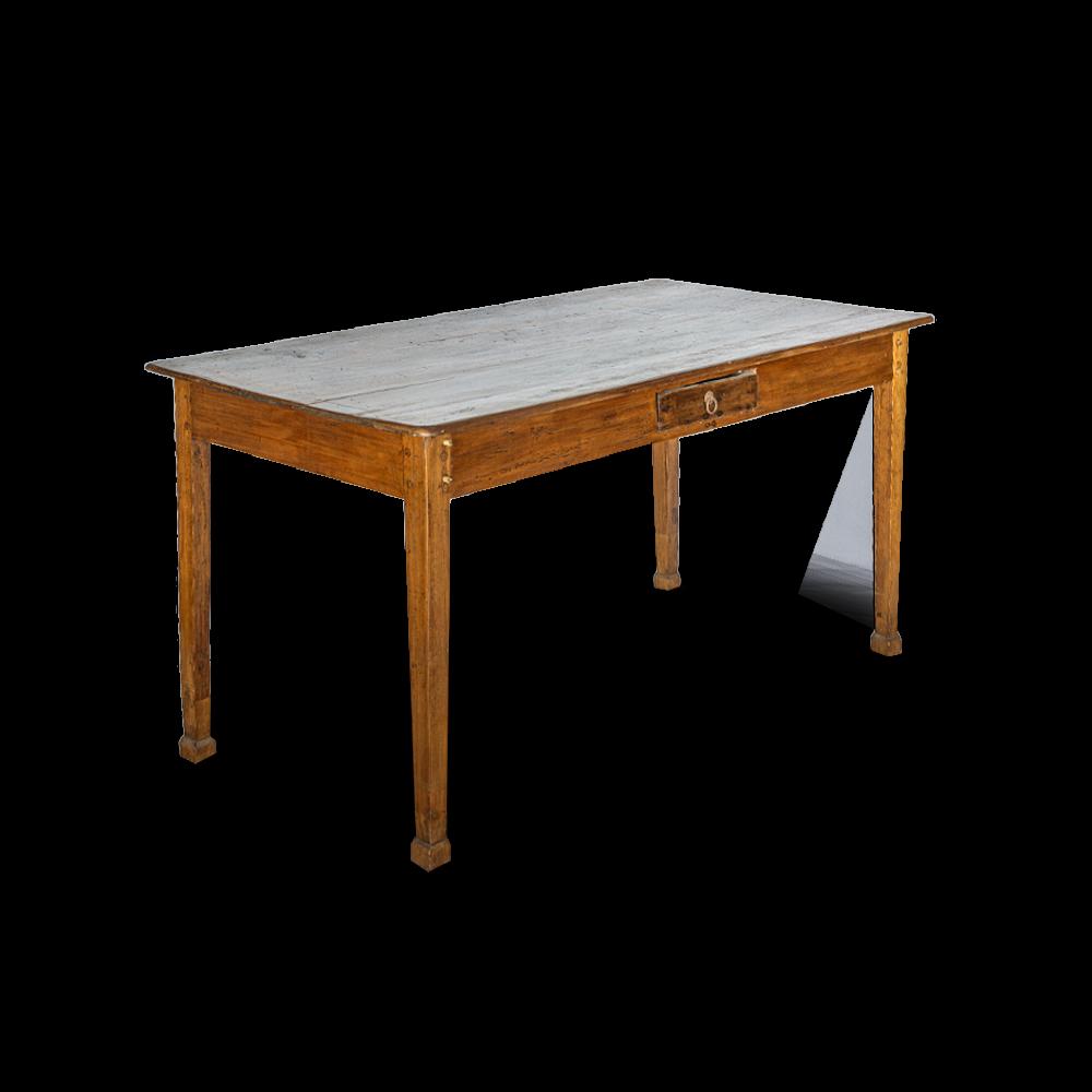 Scrivania / Tavolo in legno di teak indonesiano con cassetto