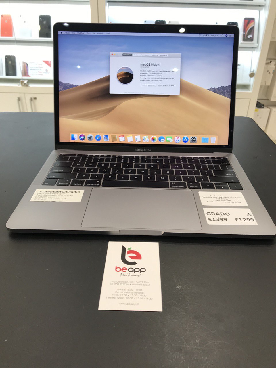 Apple MacBook Pro 2017 - intel® i5 - 13