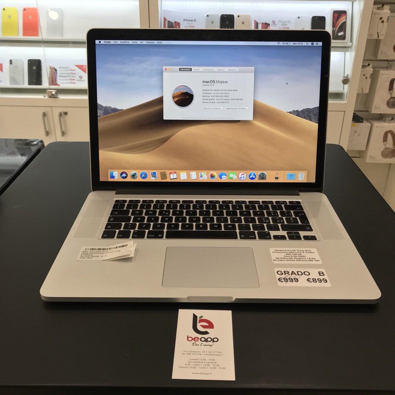 Apple MacBook Pro 2013 - intel® i7 - 15
