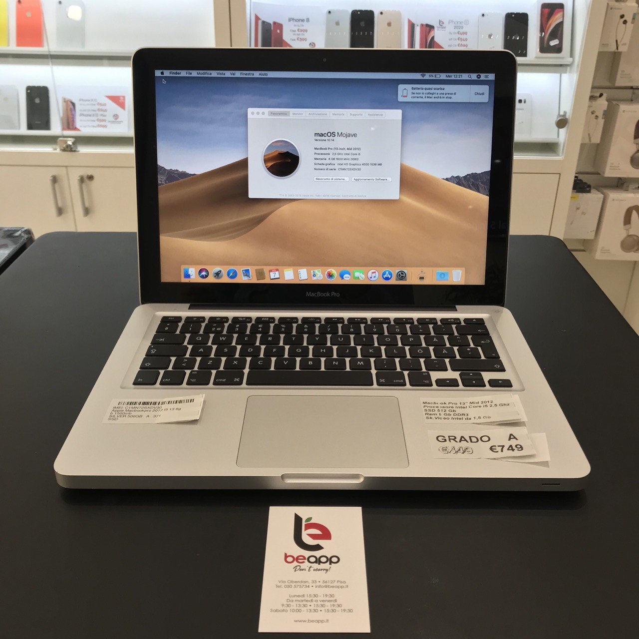 Apple MacBook Pro 2012 - intel® i5 - 13