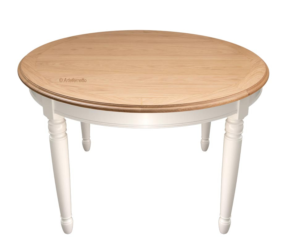 Oak wood round table