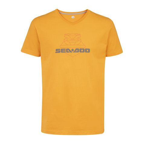 T-Shirt THROTTLE 2021 in Coton GIALLO - SeaDoo