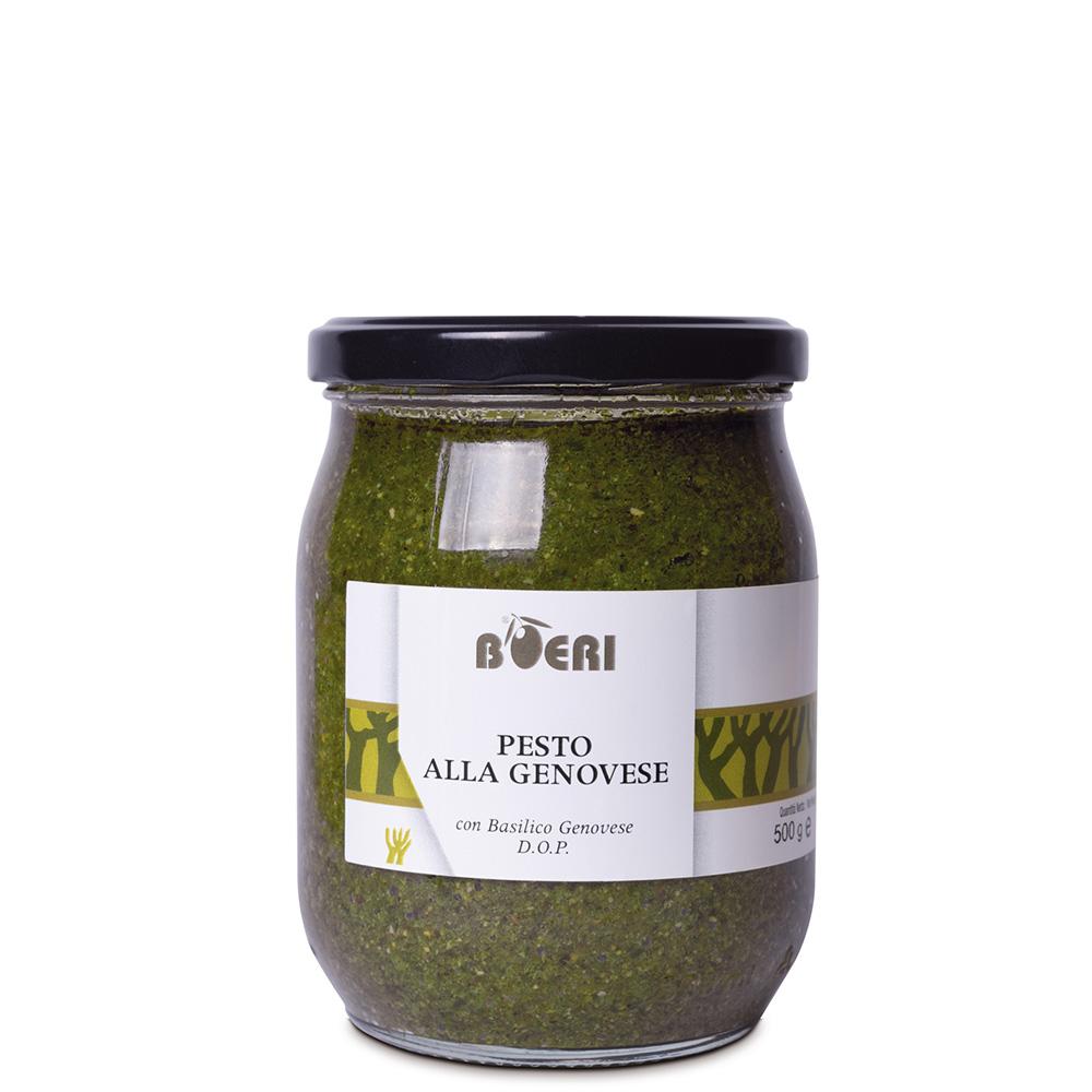 Pesto alla Genovese con basilico Genovese DOP 580 ml