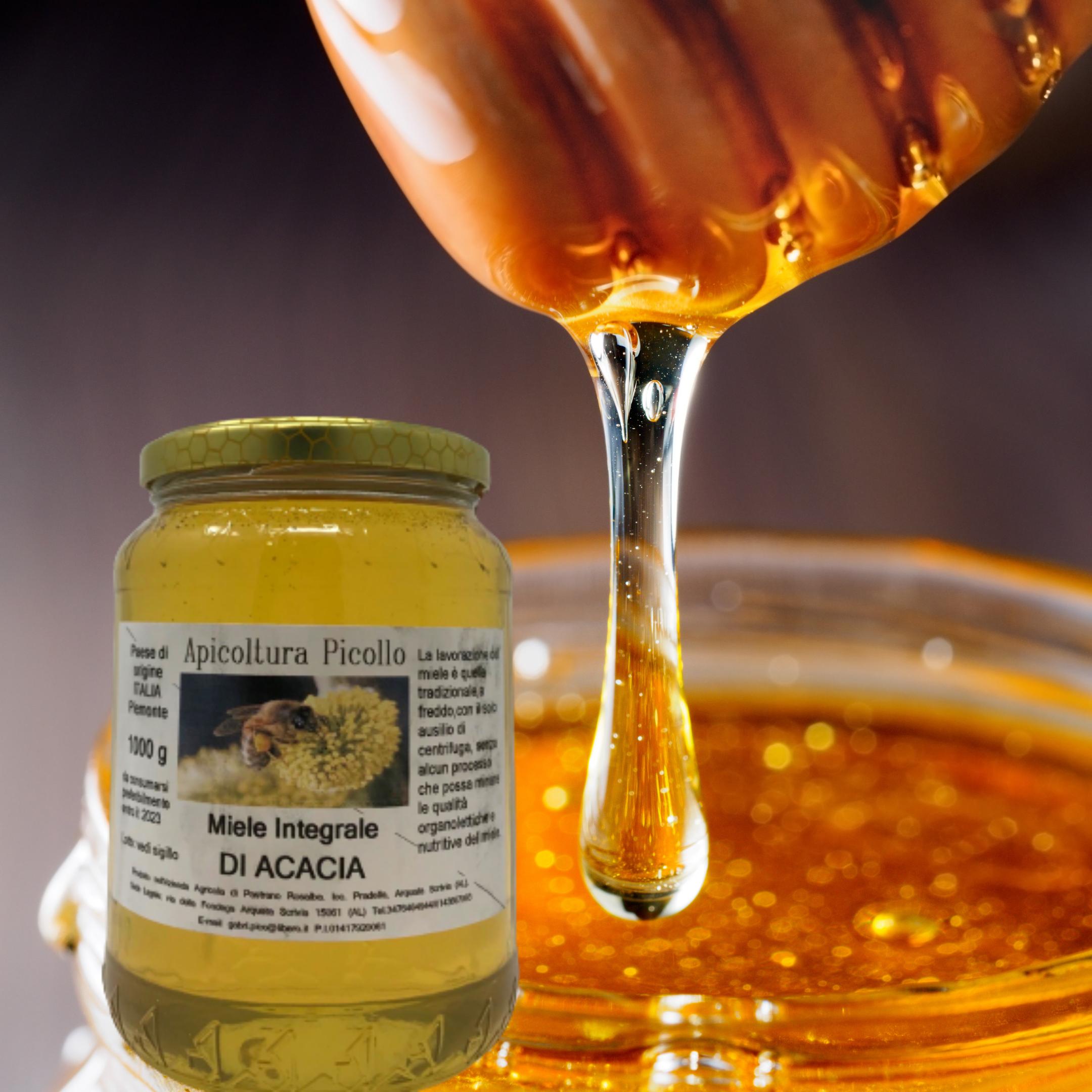 Miele integrale di acacia 500g