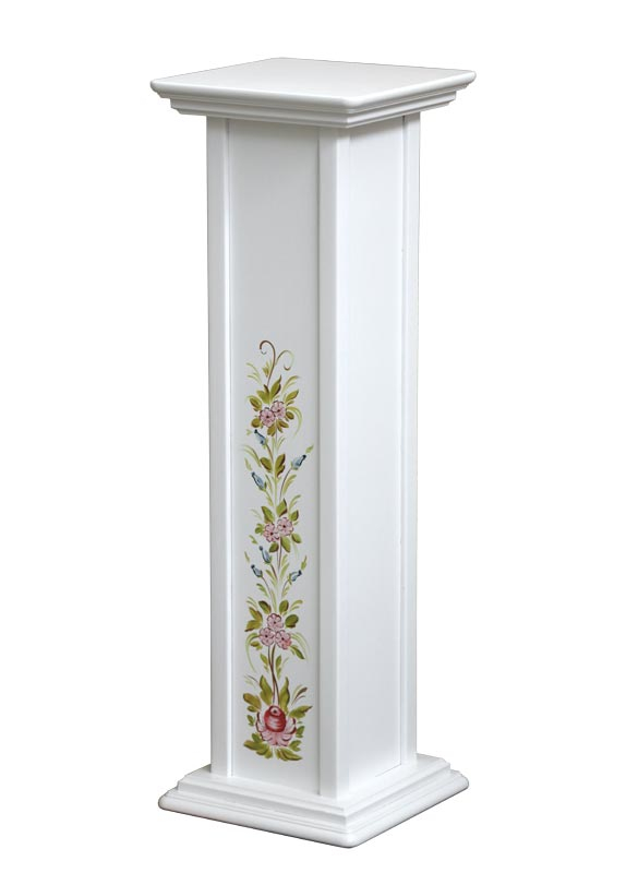 Portafiori laccato con decorazione dipinta a mano - altezza 80 cm
