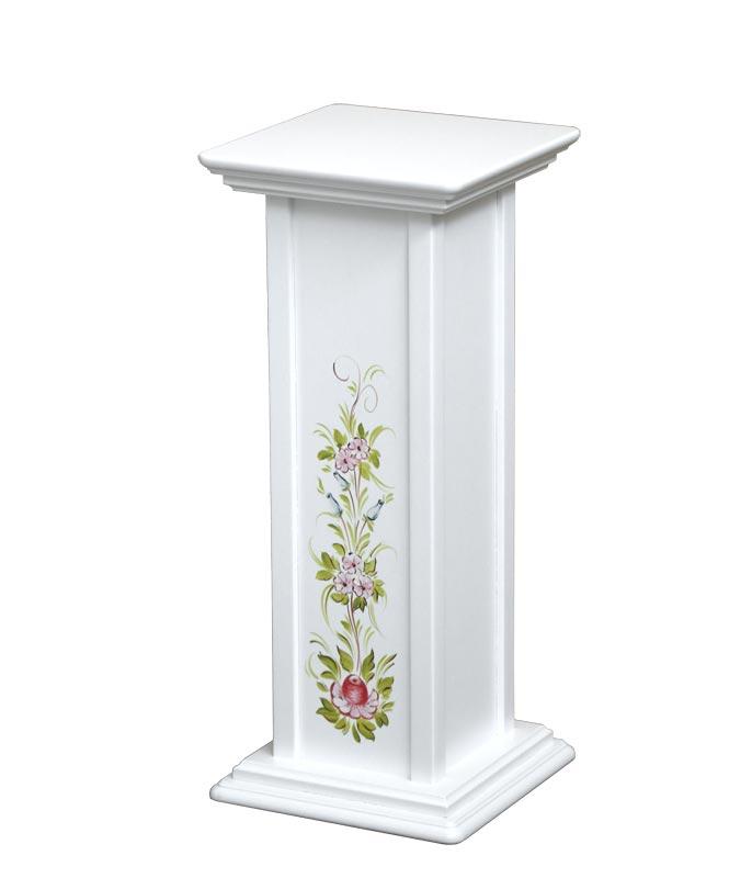 Portafiori laccato con decorazione dipinta a mano - altezza 60 cm