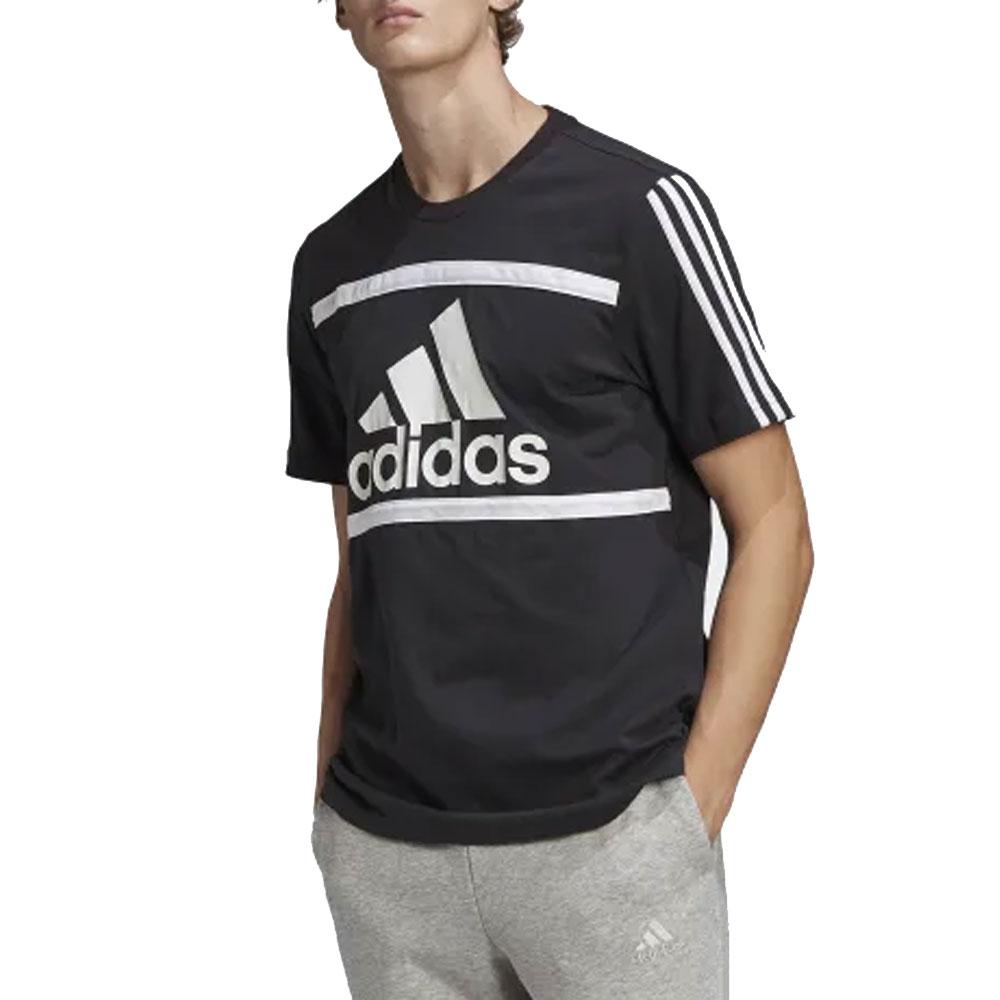 Adidas T-Shirt con Logo Nera da Uomo