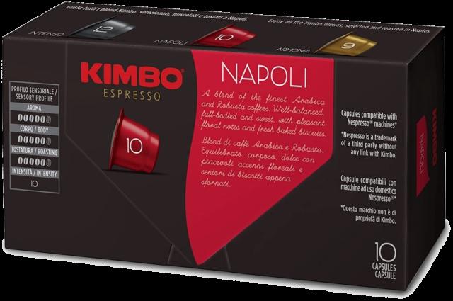 100 CAPSULE  NESPRESSO KIMBO NAPOLI