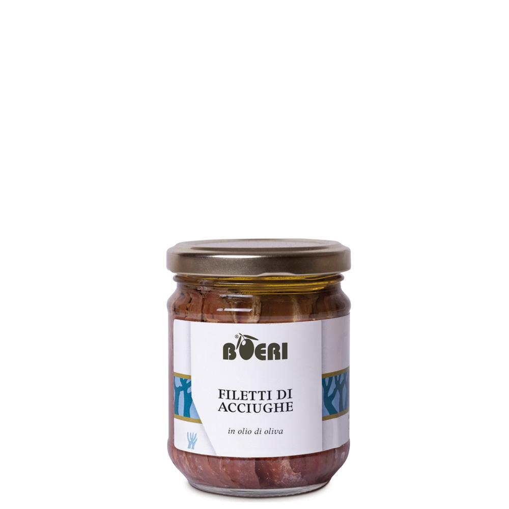 Filetti di acciughe sott'olio 212 ml
