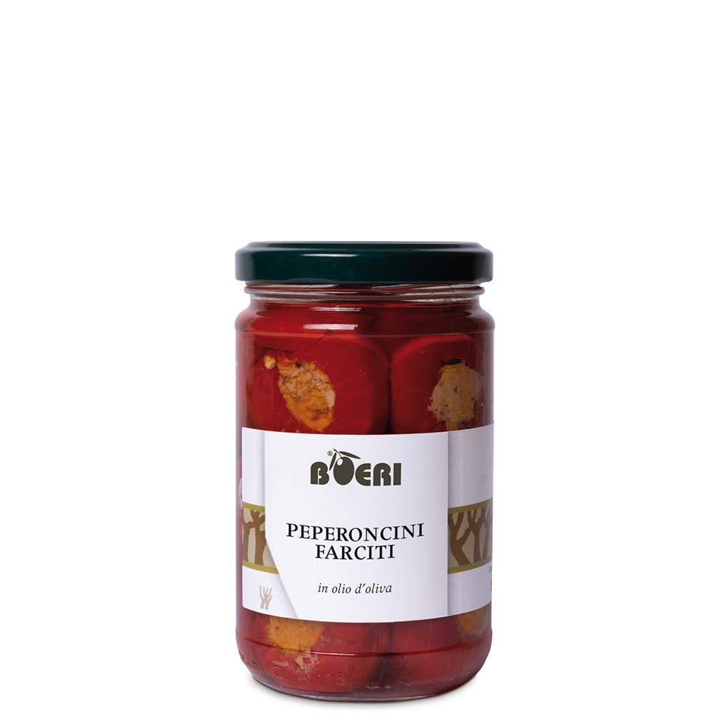 Peperoncini farciti all'olio d'oliva 280 g