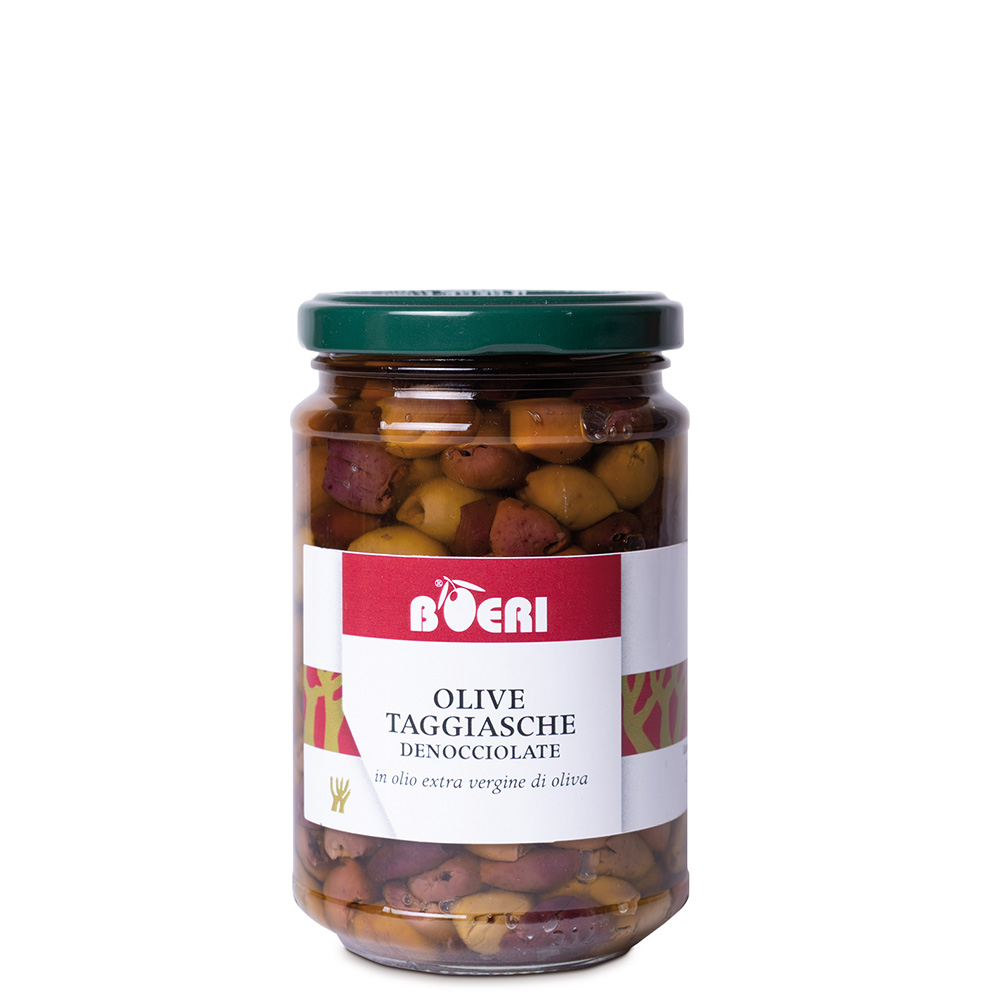 Taggiasca pitted Olives in Extravirgin Olive Oil 314 ml