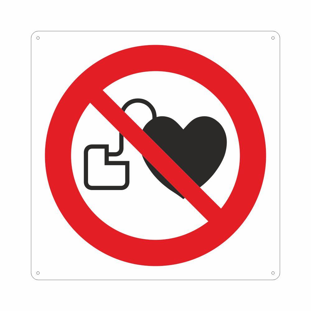 Cartello con simbolo pacemaker