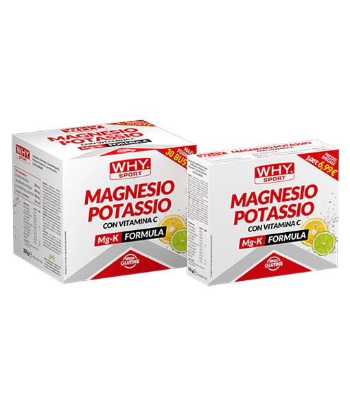 Why Sport & Nutritions, Whysport Magnesio Potassio 30 buste-Gusto Agrumi