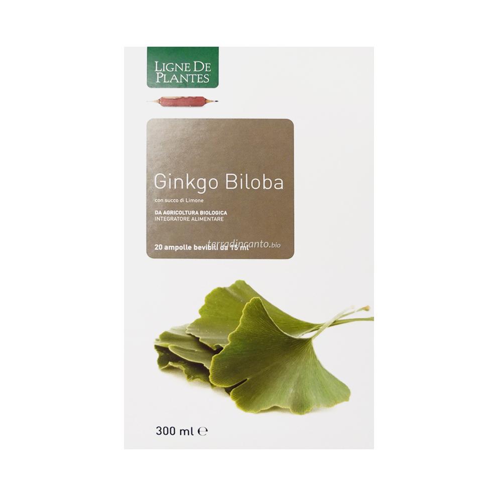 Ginkgo Biloba Bio  in Ampolle Ligne de Plantes