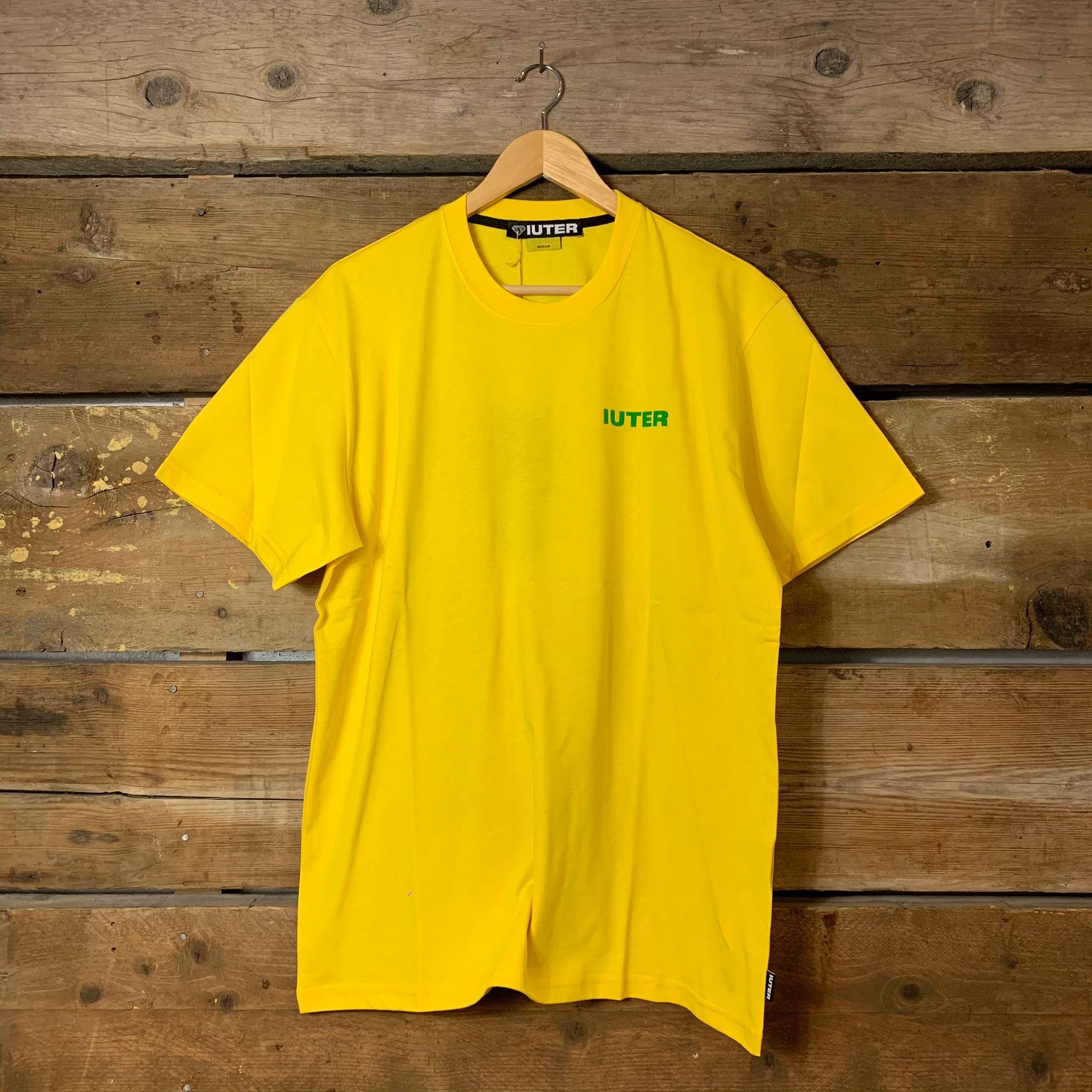 Maglia Iuter Mezza Manica Double Logo Tee Gialla e Verde