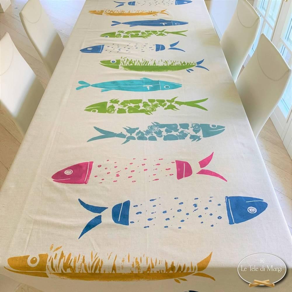 Tovaglia Pesci mediterranei multicolor