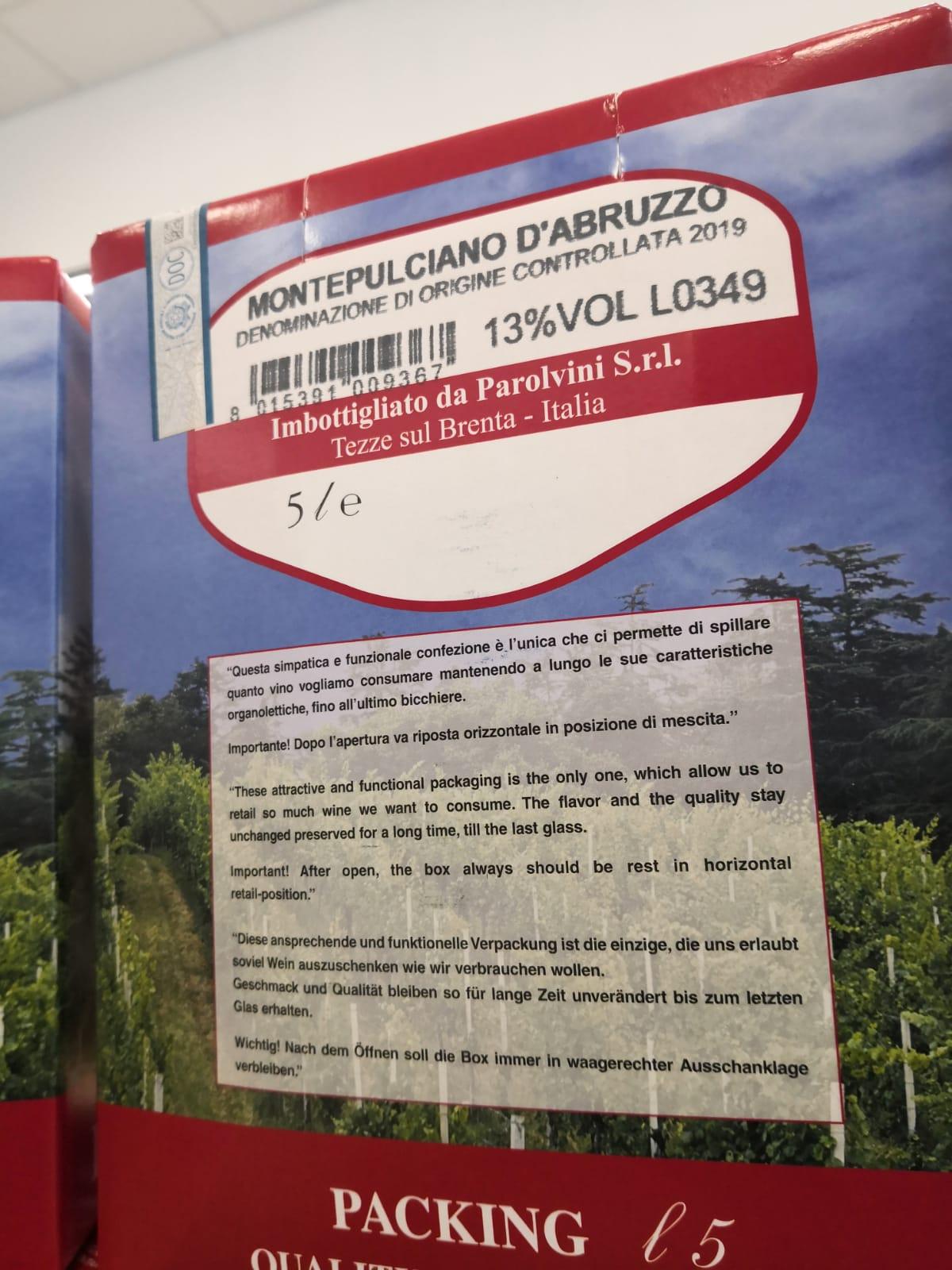 Bag in box Montepulciano d'Abruzzo