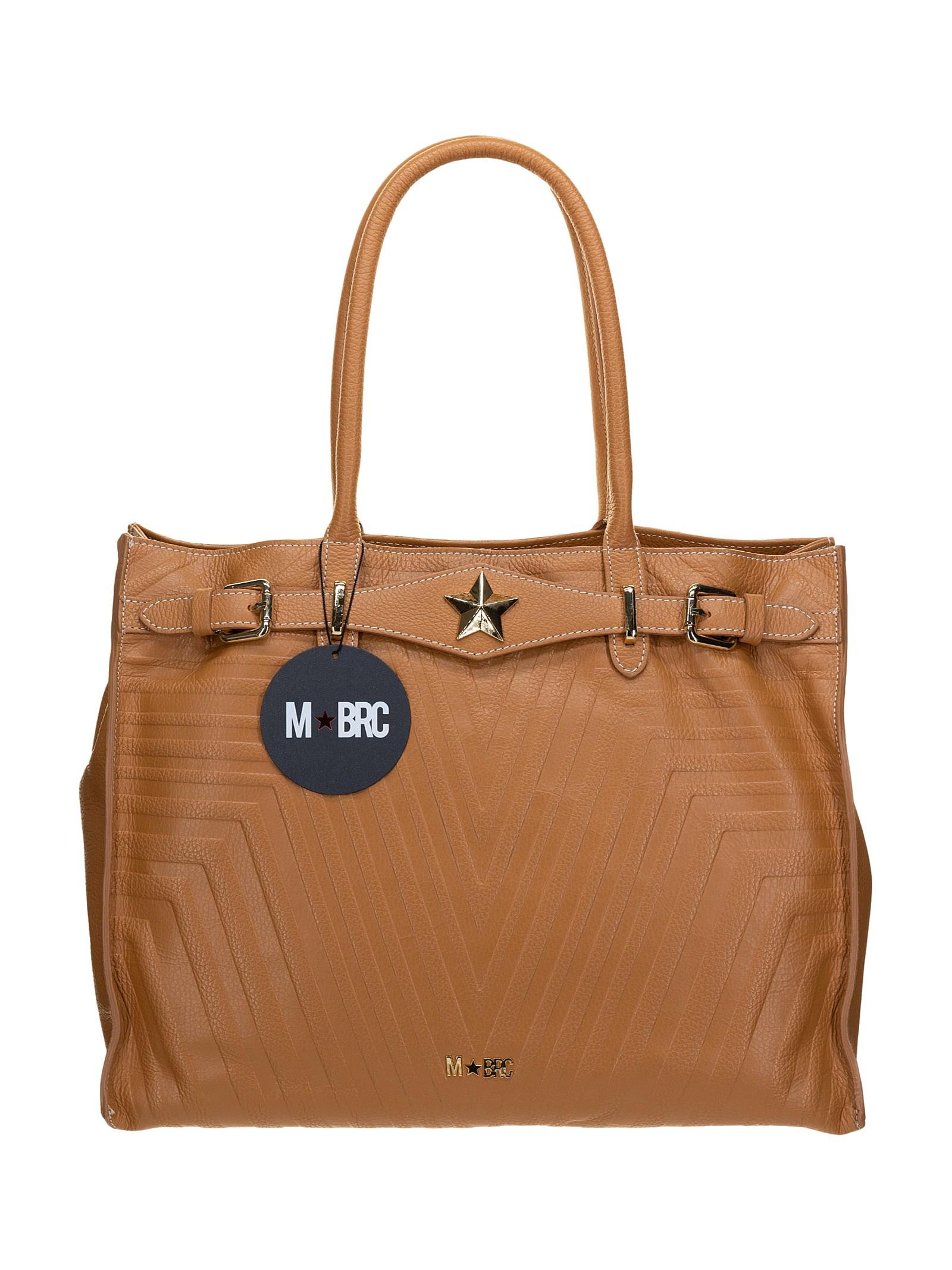 M BRC   Borsa  Shopping  cuoio