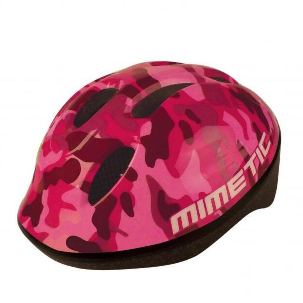 Caschetto bici per bambini mimetic pink