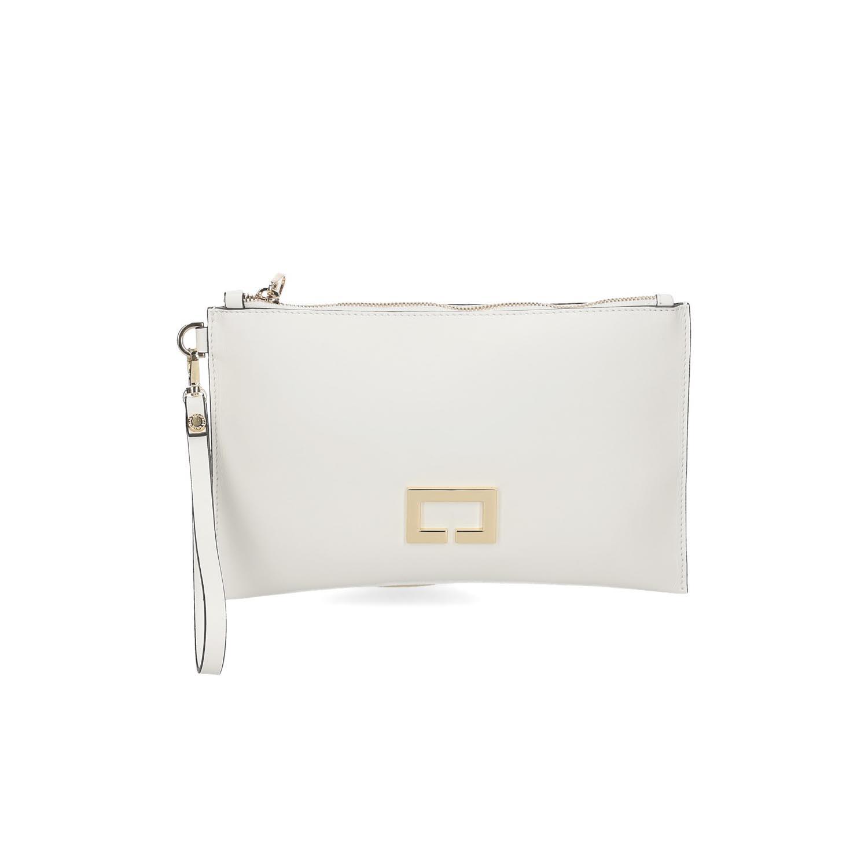 Loristella borsa pochette Janis 2466 pelle bianca