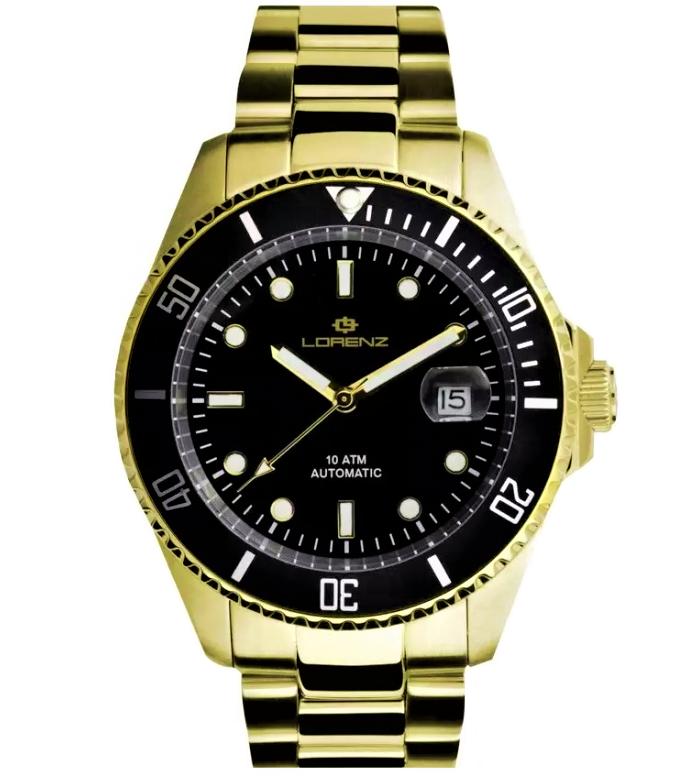Lorenz Orologio Submariner - Gold/Black