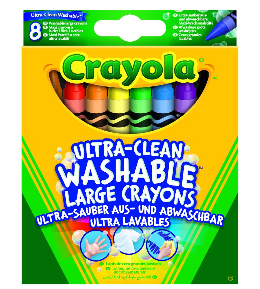 Crayola 8 Maxi Pastelli a cera ultra lavabili