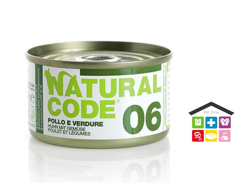 Natural code 06 POLLO E VERDURE 0,85g