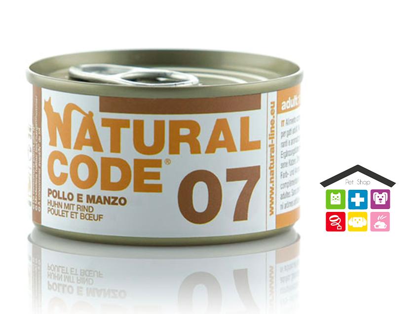 Natural code 07 POLLO E MANZO 0,85g