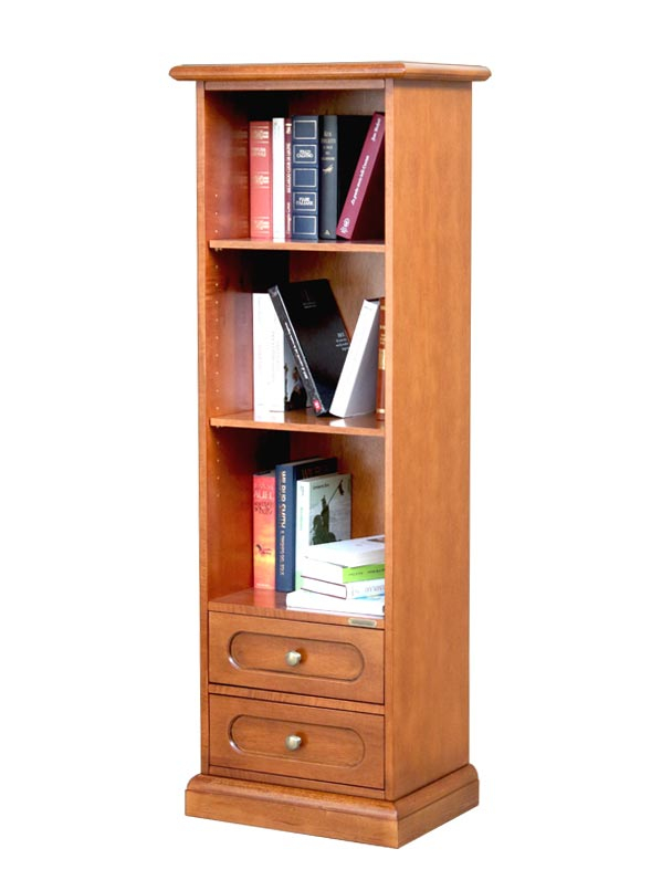 Space saving bookcase 2 drawers