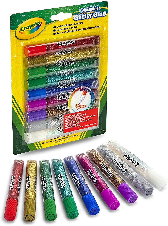 Crayola 9 Colle Glitter Lavabili