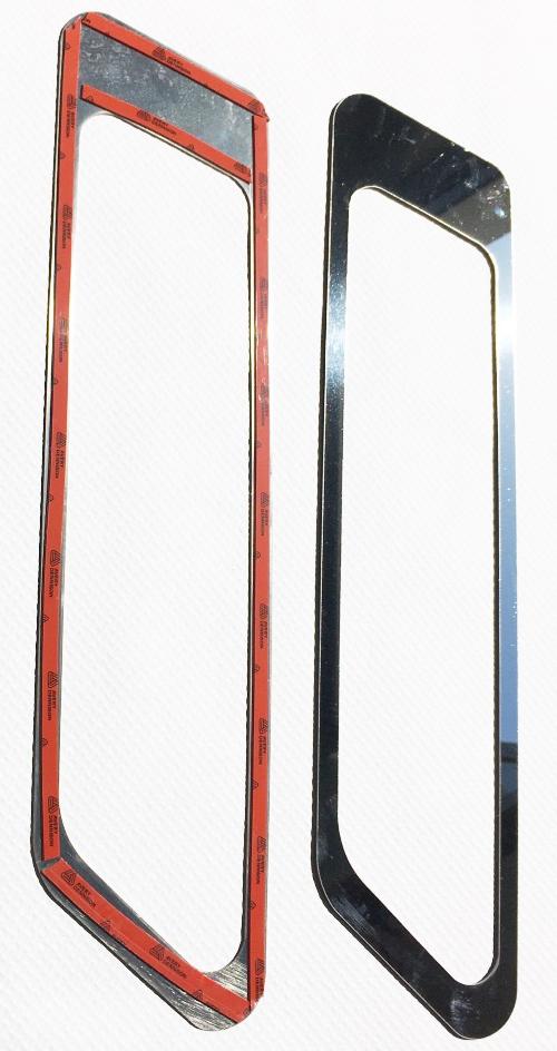 Man Cornici luci fendinebbia in acciaio inox lucido (aisi304)