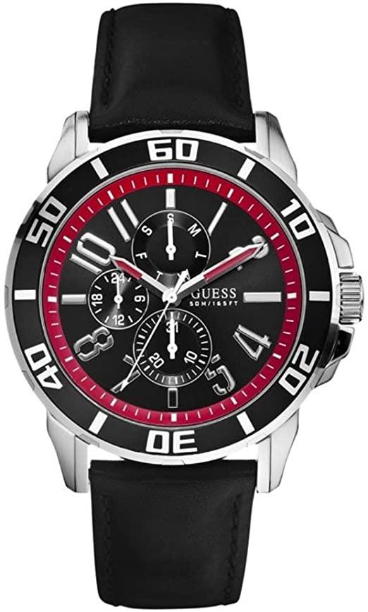 Orologio multifunzione uomo Guess Racer cinturino in pelle W10602G1