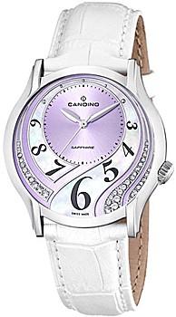 Orologio Swiss made donna Candino con cinturino in pelle bianco C4482/3