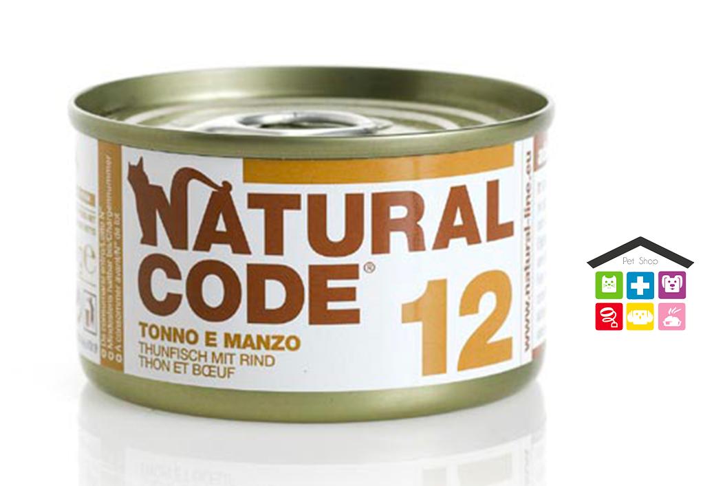 Natural code 12 TONNO E MANZO 0,85g