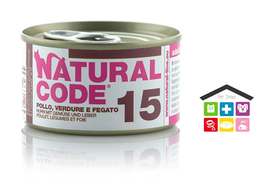 Natural code 15 POLLO, VERDURE E FEGATO 0,85g