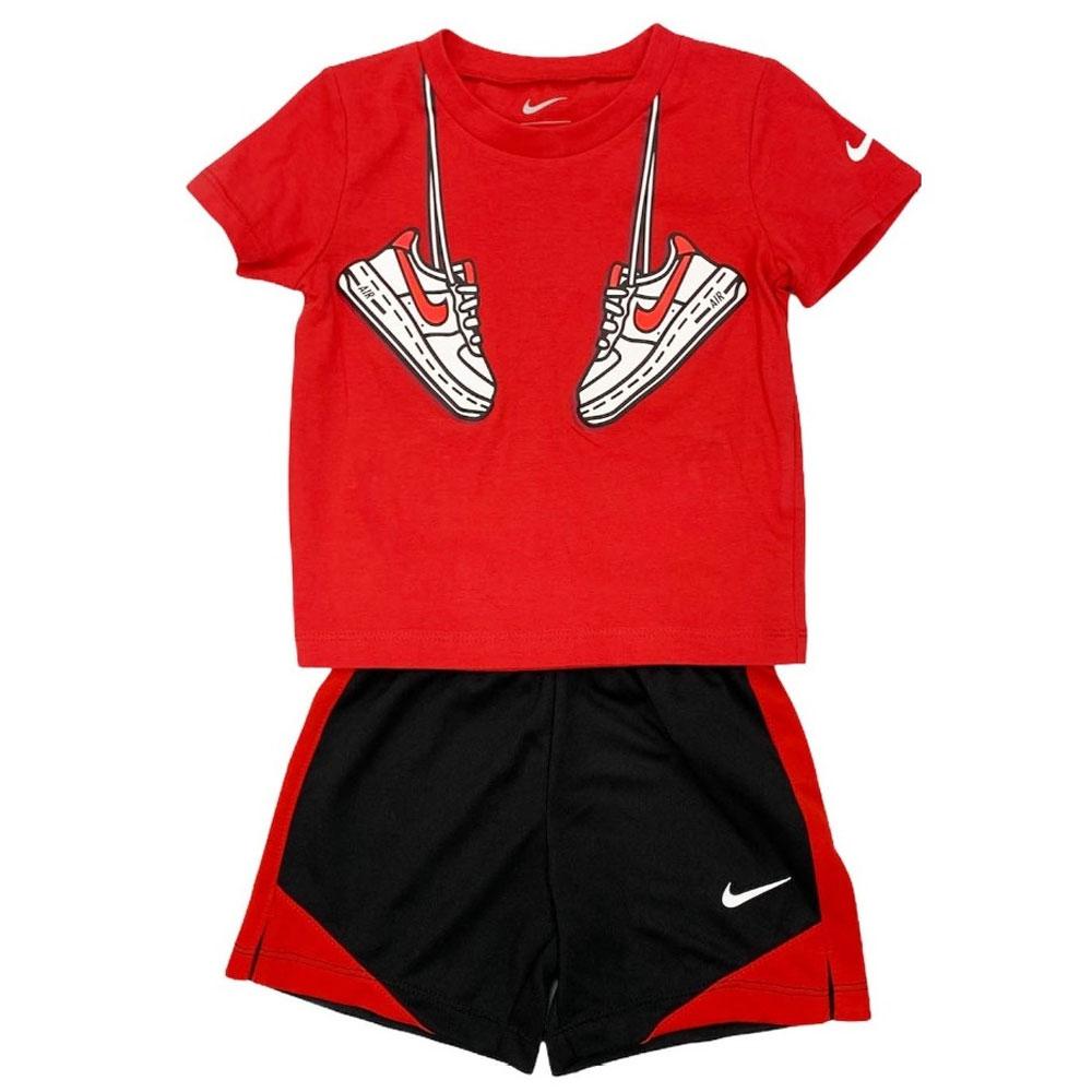 Nike Completino Rosso Nero ad Bambino