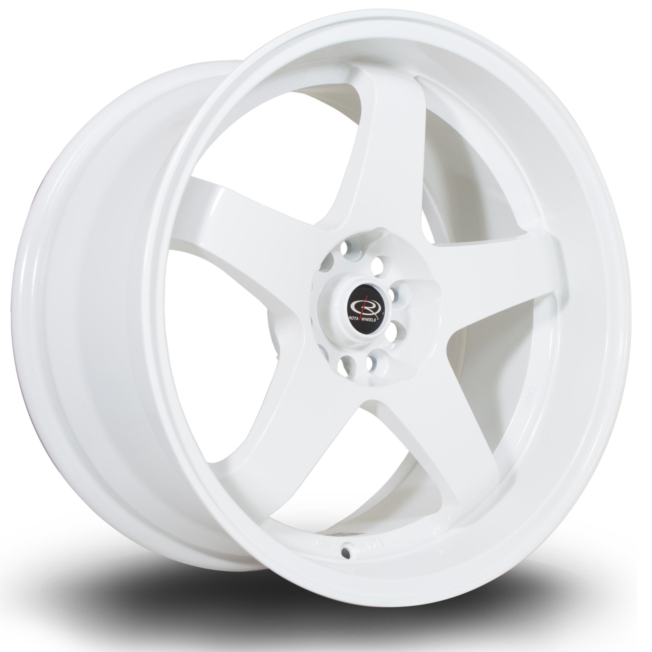 Cerchi in lega  Rota  GTR-D  18''  Width 9.5   5x114  ET 12  CB 73    White
