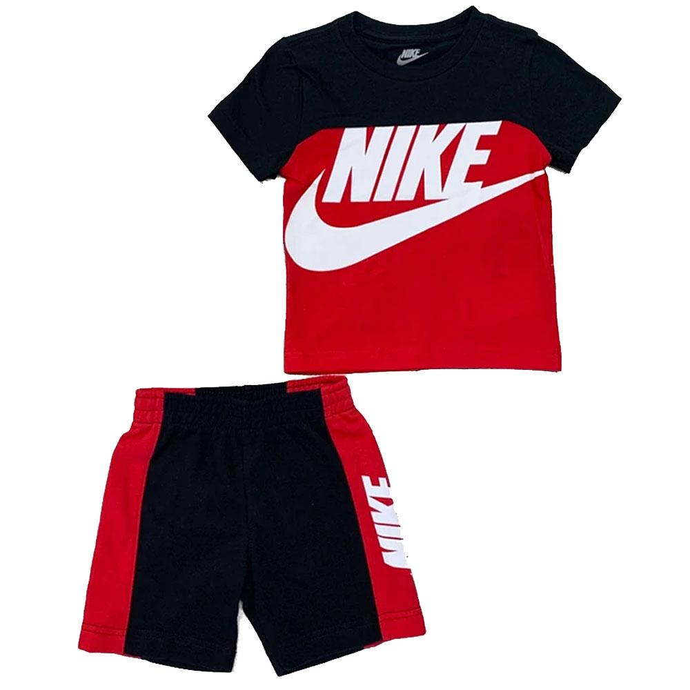 Nike Completino Logo Rosso Nero ad Bambino