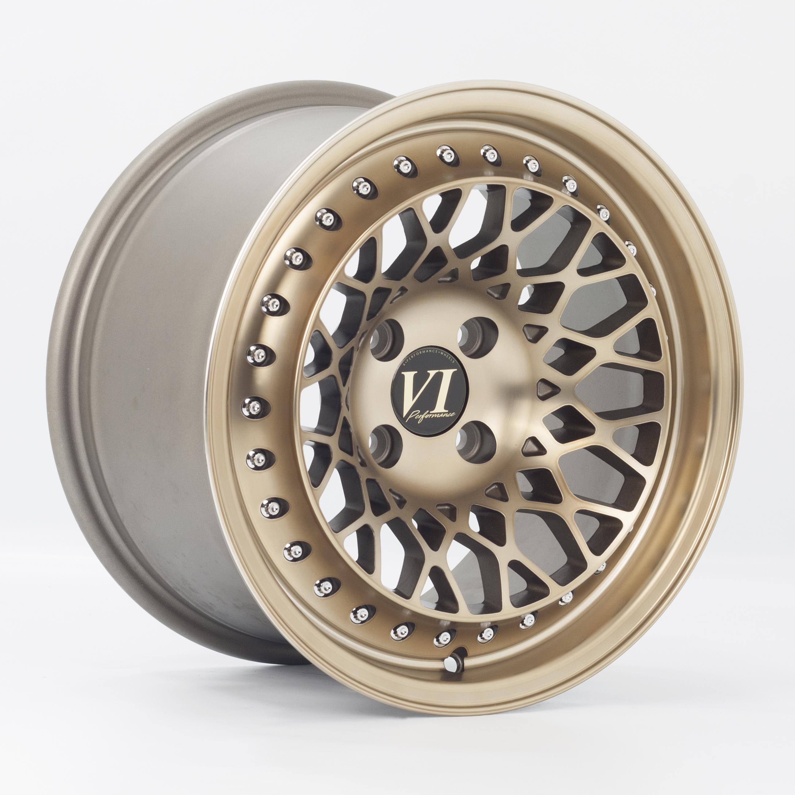 Cerchi in lega  6Performance  Infinity  15''  Width 8.25   4x100  ET 15  CB 73,1    Gold