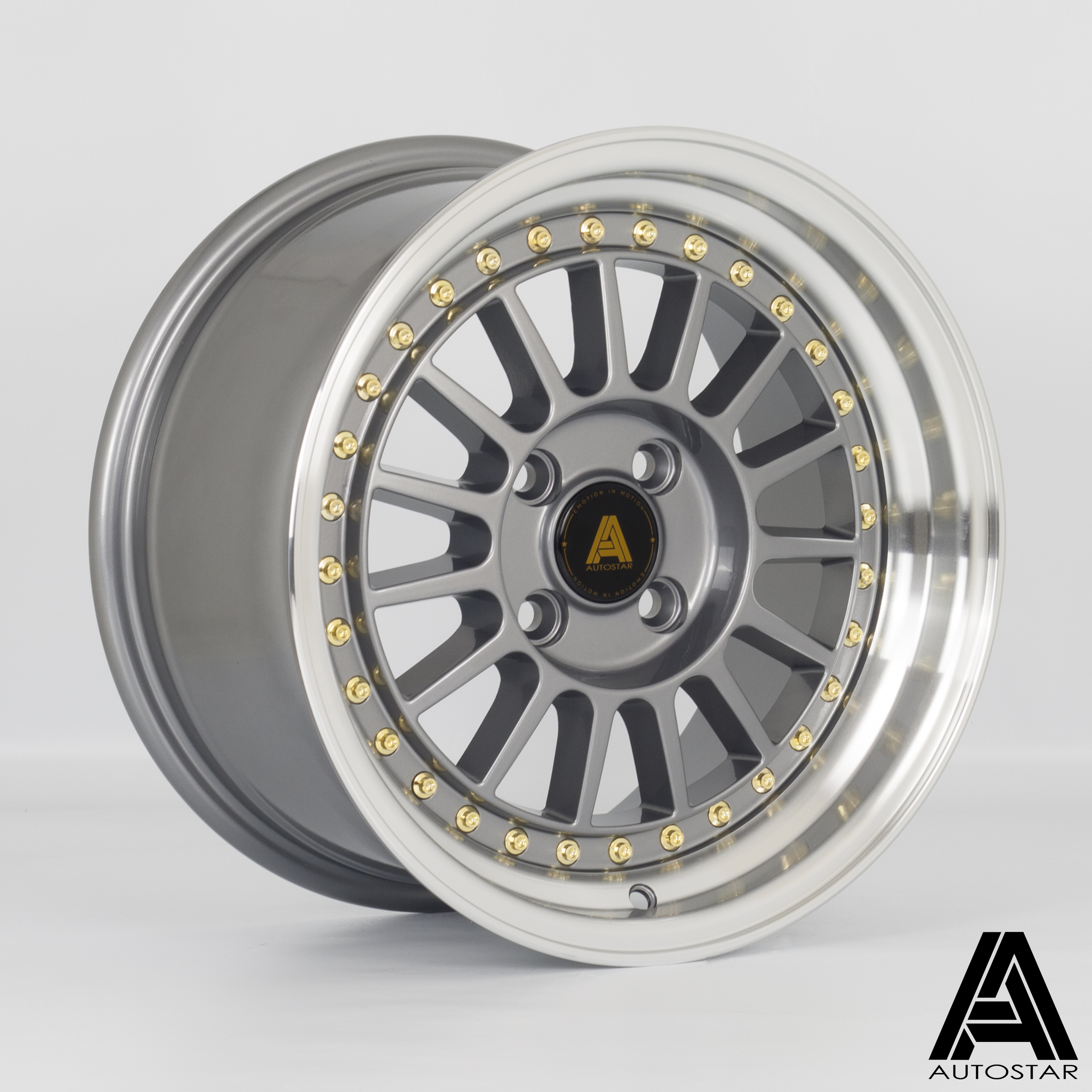 Cerchi in lega  Autostar  Circuit  15''  Width 8   4x100  ET 28  CB 73,1    RLGunmetal