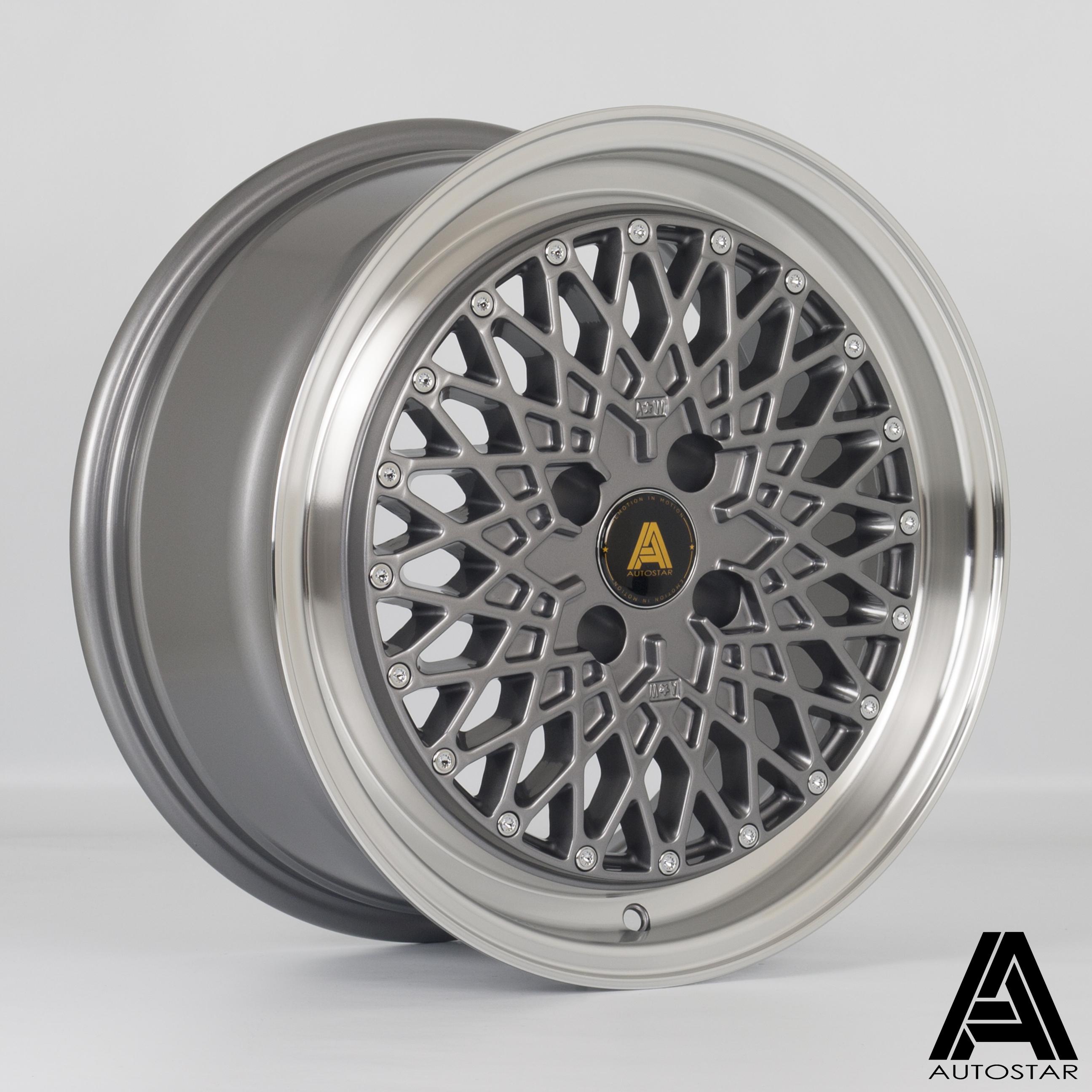 Cerchi in lega  Autostar  Minus  16''  Width 7.5   4x100  ET 25  CB 67,1    RLGunmetal