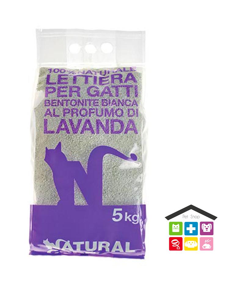 Natural code LETTIERA BENTONITE 5kg lavanda